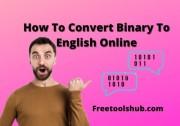Binary Translator: How To Convert Binary To English Online